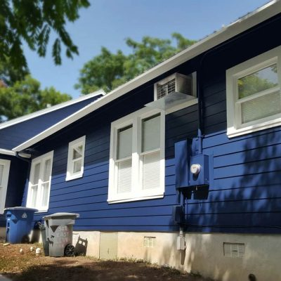 Blue Exterior by JP Construction